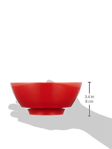 有田焼究極のラーメン鉢田清窯赤釉菊R0001