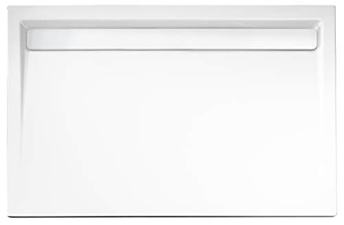Schulte D201140 04 44 rechteck Duschwanne extra-flach mit Rinnenabdeckung weiß, alpinweiß, 90x140 cm
