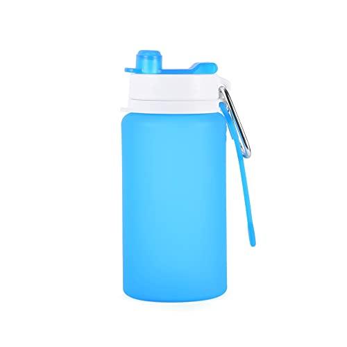 PROELECTR - Borraccia non deformazione, accessori per palestra, ufficio, sala da tè, alpinismo, campo da golf, azienda, 197 x 83 (MM), blu, 2 bottiglie d'acqua sportive per lo sport