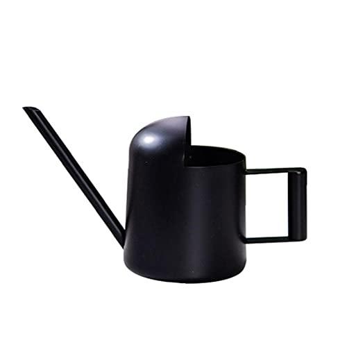 Kleine gieter, mini-watering kan kleine water gevende pot roestvrij staal zwart met lange tuit voor kinderen kinderkamer…