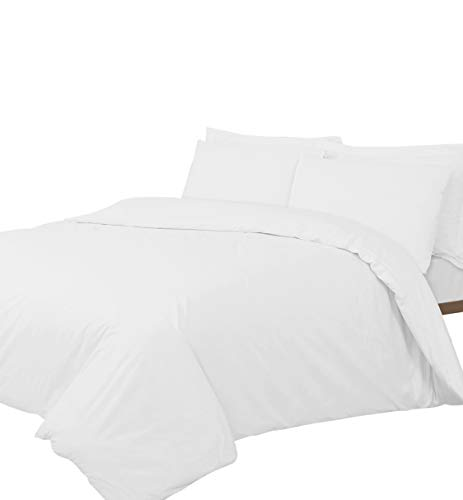 Linen Zone 400 Thread Egyptian Cotton, Single Duvet Cover Set - White