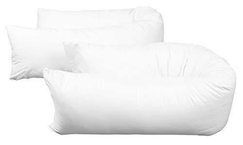 Zollner 2 fundas de almohada 40x200 cm, mezcla de algodón, otras medidas