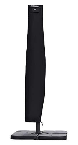 Sekey® Schutzhülle für Ampelschirm,Abdeckhauben für Sonnenschirm,Schwarz
