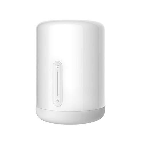 Mijia Lámpara para mesita de noche, 2 luces de colores inteligentes, control por wifi, interruptor táctil, aplicación Mi Homekit Siri