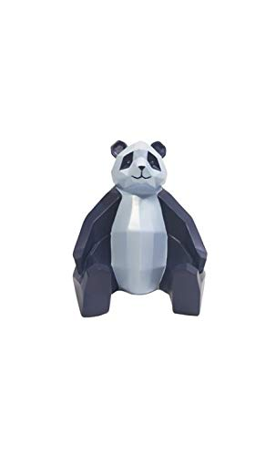 Present Time - Statue Panda Bleu et Bleu Clair Origami
