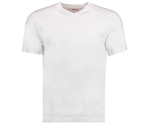 Tony Brown Herren T-Shirt V-Ausschnitt (4XL, Weiß)
