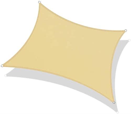 JLTX - Tela impermeable rectangular impermeable impermeable tela impermeable impermeable tela lluvia/UV sombra para jardín terraza camping beige 21 tamaños (color: beige, tamaño: 2x2.5m)