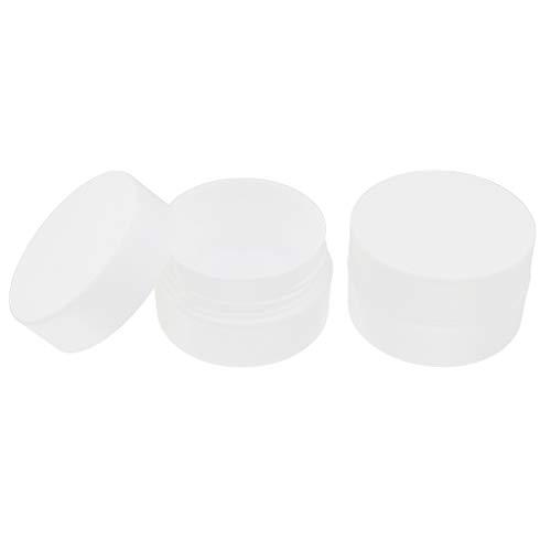 Fenteer 2pcs Bocaux Vides Flacons Pots Maquillage DIY - Blanc