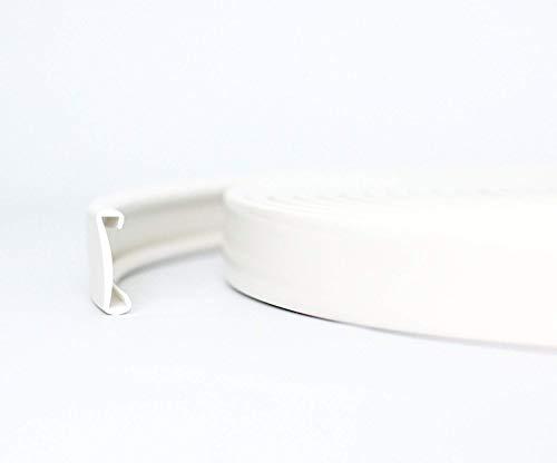 Tazado 10m PVC Handlauf Treppenhandlauf Kunststoffhandlauf 40x8 mm weiß