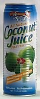 Amy Brian Los Angeles Mall Natural Coconut Juice Pulp Oz 17.5 Free Pack 12 Spring new work of