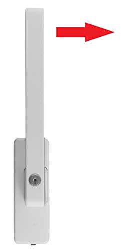GU Schiebetür PSK Drehgriff abschließbar DIRIGENT 966/976 DIN Links weiss mit Aussperrsicherung incl. SN-TEC Montageschlüssel
