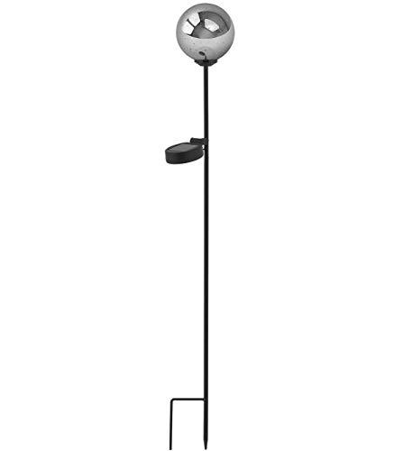 EASYmaxx 07808 Solar-Leuchte | 3D-Lichteffekte, Feuerwerkseffekt, Lichterfontänen | LED, Tageslichtsensor für automatisches Ein- und Ausschalten | Kabellos, Wetterfest, Silberfarben