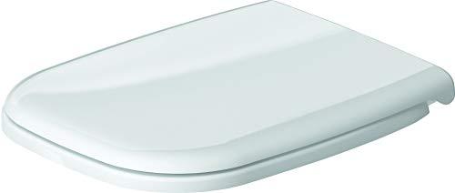 Duravit 67310099 WC-Sitz D-Code Compact weiss mit Scharnieren aus Edelstahl ohne SoftClose, Weiß