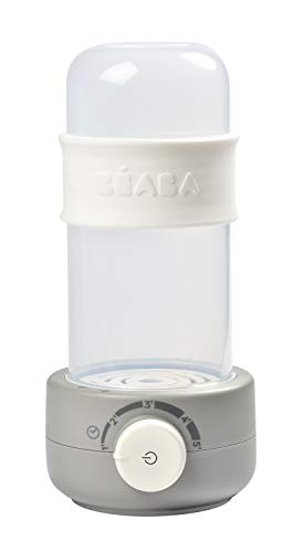 BEABA Quick Baby Bottle Warmer, Steam Sterilizer, Baby Food Heater (3-in-1) Warm Milk in Just Two Minutes, BPA and Lead Free, Fits All Bottle Sizes - Even Wide Neck (Cloud)