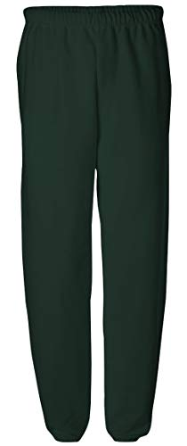 Joe's USA Adult Relaxed Fit Soft and Cozy Sweatpants in 11 Colors-XL-Green