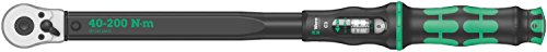 Wera Click Torque C 3 Adjustable Torque Wrench, 1/2' Square Drive, 40-200 Nm, 05075622001
