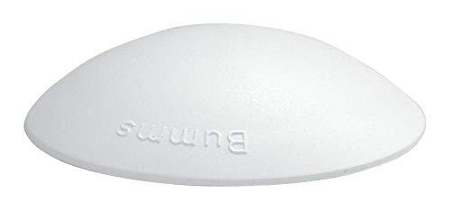 2 Stück Home Xpert Türstopper, Türpuffer BUMMS, Ø 60 mm Höhe: 15 mm, weiß, aus Kunststoff