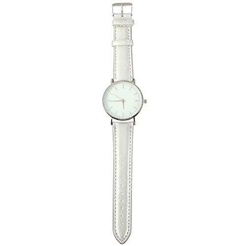 UKCOCO Relojes Reloj de Pulsera de Plata de PU Reloj Moderno Creativo de Pareja Relojes
