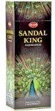 Sandal King - Box of Six 20 Stick Tubes, 120 Sticks Total - HEM Incense