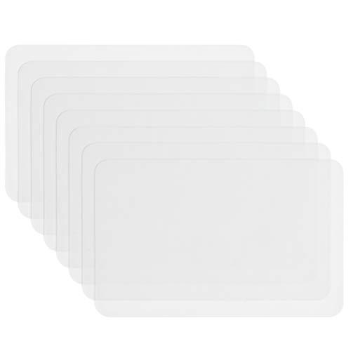 """""""N/A"""" 8Stück Tischset Transparent, Kunststoff Platzdeckchen,Kunststoff Tischsets Tisch Matte Hitzebeständige Tischsets Essmatten für Tisch, Esszimmer, Küche"""