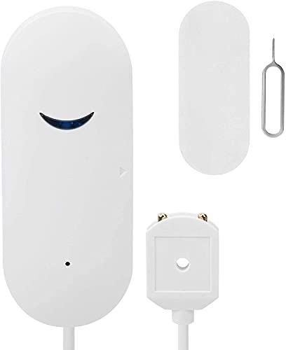 Lenetechg Lenetech Smart WiFi Water Leak Sensor, Flood Leakage Level Alarm Overflow Detector Alert Leak and Drip APP Alerts for Home Basement Warehouse Shop