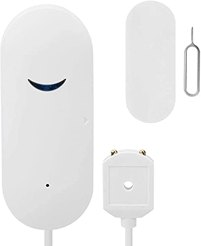 Lenetech Smart WiFi Water Leak Sensor, Flood Leakage Level Alarm Overflow Detector Alert Leak and Drip APP Alerts for Home Basement Warehouse Shop