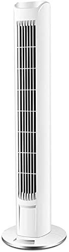 HMMN Ventilador sin Sentido de 3 velocidades, Ventilador de Torre oscilante con Control Remoto, Fan de refrigeración Tranquilo y Potente-hogar/Oficina de pie (Color : White)