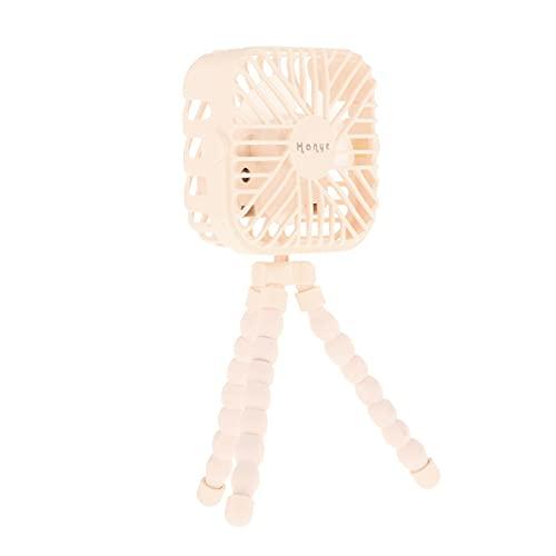 Gazechimp USB Passeggino Fan Clip On Ventilatore Portatile Ventilatore a Batteria Ventilatore Portatile Silenzioso Seggiolino Auto per Passeggino da scrivania - Giallo