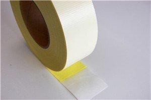 Teflonband weiß PTFE Glasgewebeband, 130my, 1m (lfm) x 40mm, selbstklebend, hitzebeständig bis 250°C, Teflonklebeband