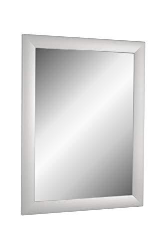Online-GalleryKing TheMIRROR' gerahmter Spiegel aus echtem Glas 95 x 115 cm Maßanfertigung Wandspiegel in Farbe Silber matt z.B als Flurspiegel Salonspiegel usw.