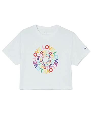 Pepe Jeans Marsha Camiseta, Blanco (White 800), Large (Tamaño del Fabricante: L) para Mujer