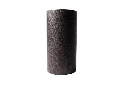 COMOTION Faszienrolle, auch geeignet als Rückenrolle Wirbelsäule, Gymnastikrolle, Fitnessrolle, Pilates Rolle, Mittel-Hart Länge 30cm Durchmesser 15cm, schwarz