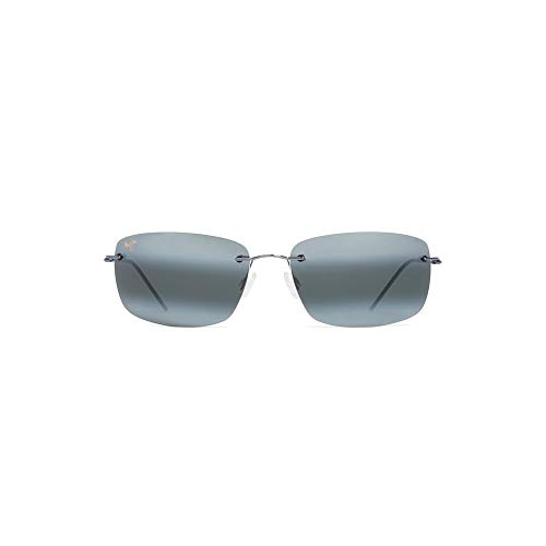 Maui Jim Frigate Sunglasses, Gunmetal Blue with Black Sleeve/Neutral Grey, One Size
