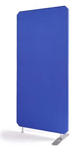 Oktagon Akustik Stellwand - System, Schallschutz - Trennwand, Akustikwand schallabsorbierend, geprüft nach DIN EN ISO 354, Paneel - Größe: 1600 H x 1000 B x 50 D (mm), Farbe: blau