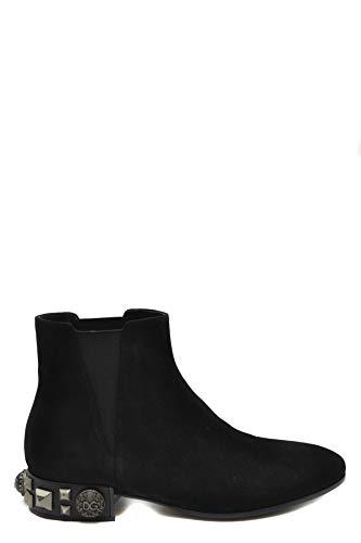 Luxury Fashion | Dolce E Gabbana Dames MCBI39224 Zwart Suôde Enkellaarzen | Seizoen Outlet