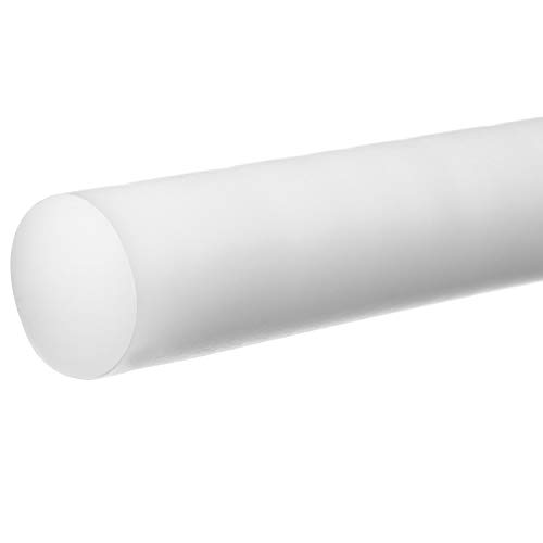 "POLYVINYL CHLORIDE BAR 4/"" DIAMETERX 6/"" LONG PVC ROD // BAR RAIL SOLID STOCK"
