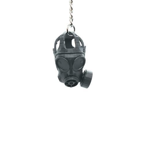Portachiavi Ecosostenibili con stampa 3D- Maschera Antigas - Call of Duty- Warzone- Regalo per gli amici e Team