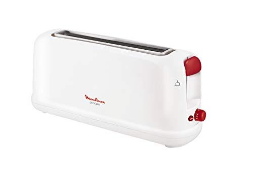 Moulinex Principio LS160111 - Tostadora de una ranura larga de 25 cm, bandeja recoge-migas con 7 niveles de tueste, modo de descongelación y botón apagado, para gran variedad de pan