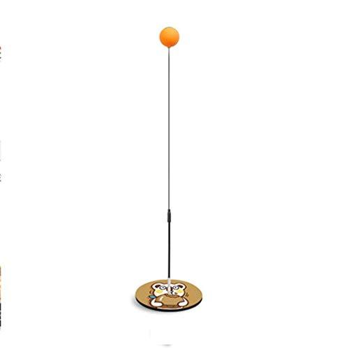 BBGSFDC Mesa de Ping Pong Conjunto de Entrenamiento, Pista de Paddle Entrenador con el Dispositivo de Rebote, Flexible rápida recuperación de Formación Bola Pong Máquina for Ping (Color : Brown)