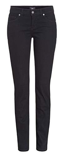 MAC Damen Jeans Carrie Pipe 5954 ( 5909 ) schwarz/black D999 (44/32)
