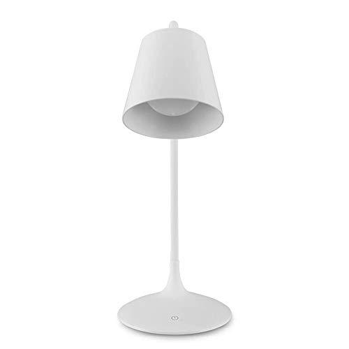 JYDQM Lámpara de Escritorio Regulable sin escalonamientos táctil Blanca ABS Minimalista Moderna Luz de Mesa de Oficina con protección Ocular Ajustable de 180 ° (Recargable)