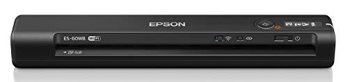 エプソン スキャナー ES-60WB (モバイル A4 USB対応 Wi-Fi対応 ブラック)