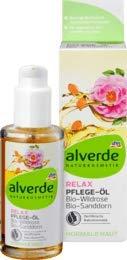 alverde NATURKOSMETIK Körperöl Relax Wildrose Sanddorn, 1 x 100 ml