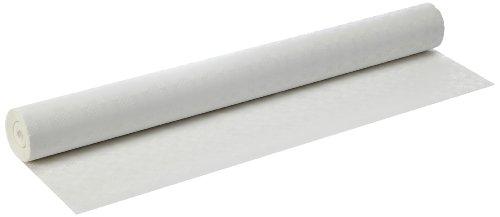 Papstar Tischtuchrolle / Papiertischtuch weiß (1 Rolle) mit Damastprägung, 50 x 1 m, robust, umweltfreundlich, für Gastronomie, Feste oder Haushalt, #12542