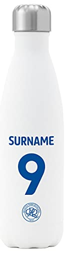 Personalised Queens Park Rangers FC Back Of Shirt Insulated Water Bottle - White