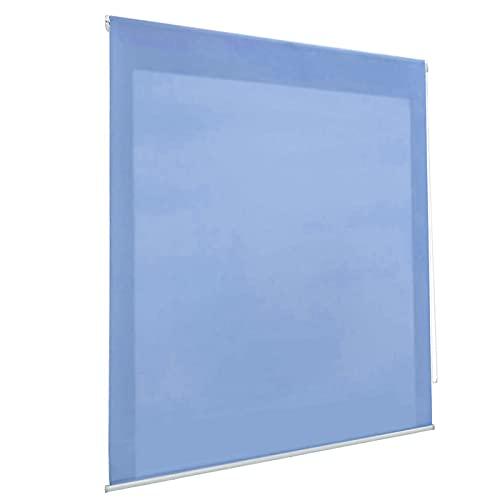 HOME MERCURY - Estor Enrollable translúcido Liso (90x180 cm, Azul)
