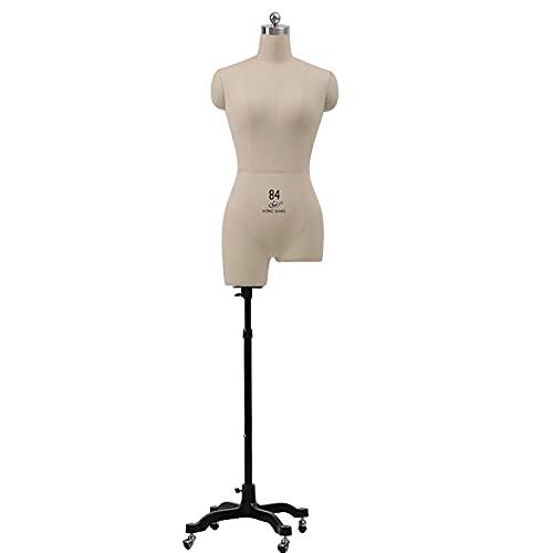 FeBeige naaien, in hoogte verstelbare jurkvormen voor dameskleding Displayfotografie, gratis een speld plakken (maat: model 80)