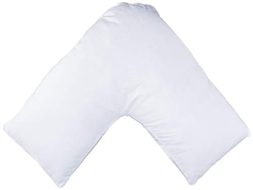 ECM Hypoallergenic Contoured Neck V-Shaped Boomerang Maternity Neck Pain Bed Pillow