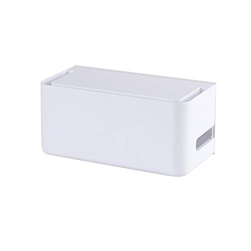 XCJJ Router-Regal, Wifi-Aufbewahrungsbox zur Abdeckung des Routers, auch für die Kabelbox-Verwaltung verwendet, Büro- / Heim-Aufbewahrungsboxen für Steckdosen, Router, Fernbedienungen, TV-Zubehör Gra