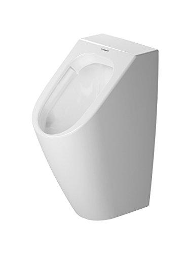 Duravit Urinal ME by Starck, Zulauf v.hinten rimless, ohne Fliege, weiß WonderGliss, 28093000001